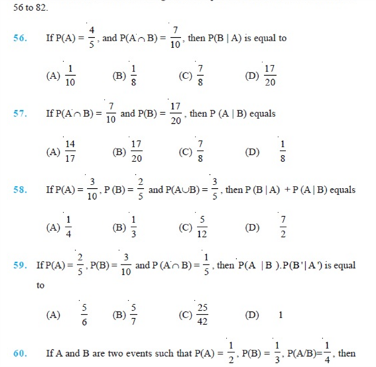 Important Questions Class 12 Maths Chapter 13 Probability Part 10