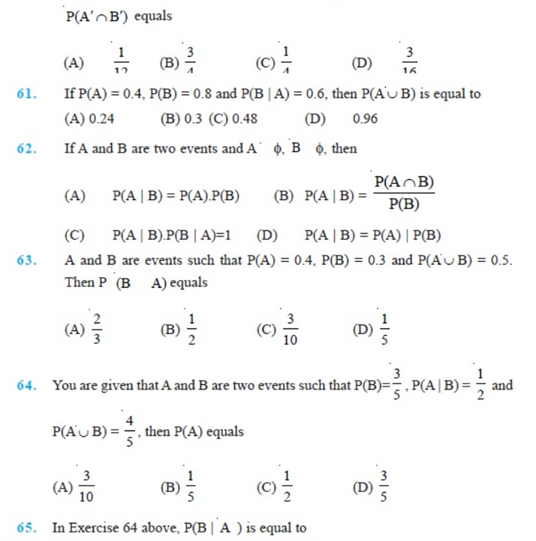 Important Questions Class 12 Maths Chapter 13 Probability Part 11