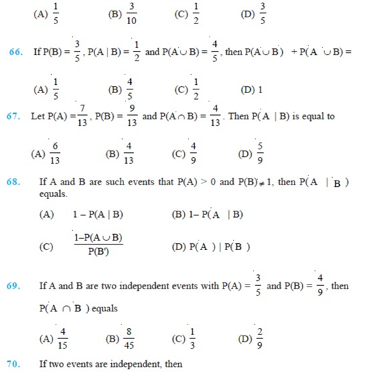 Important Questions Class 12 Maths Chapter 13 Probability Part 12