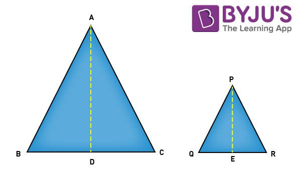 Area Of Similar Triangles And Its Theorems CBSE Class 10