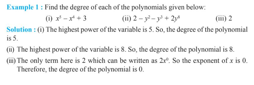 Polynomials Class 9