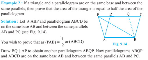Areas Of Parallelograms And Triangles Class 9