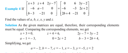 Matrices For Class 12