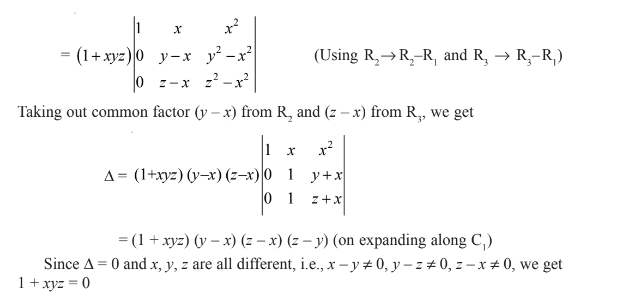 Determinants for Class 12