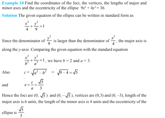 Conic Sections Class 11