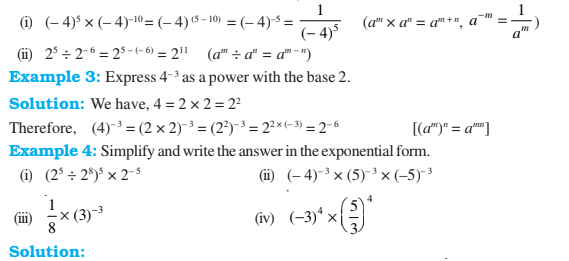 Exponents And Powers Class 8