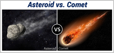 Difference Between Asteroid And Comet