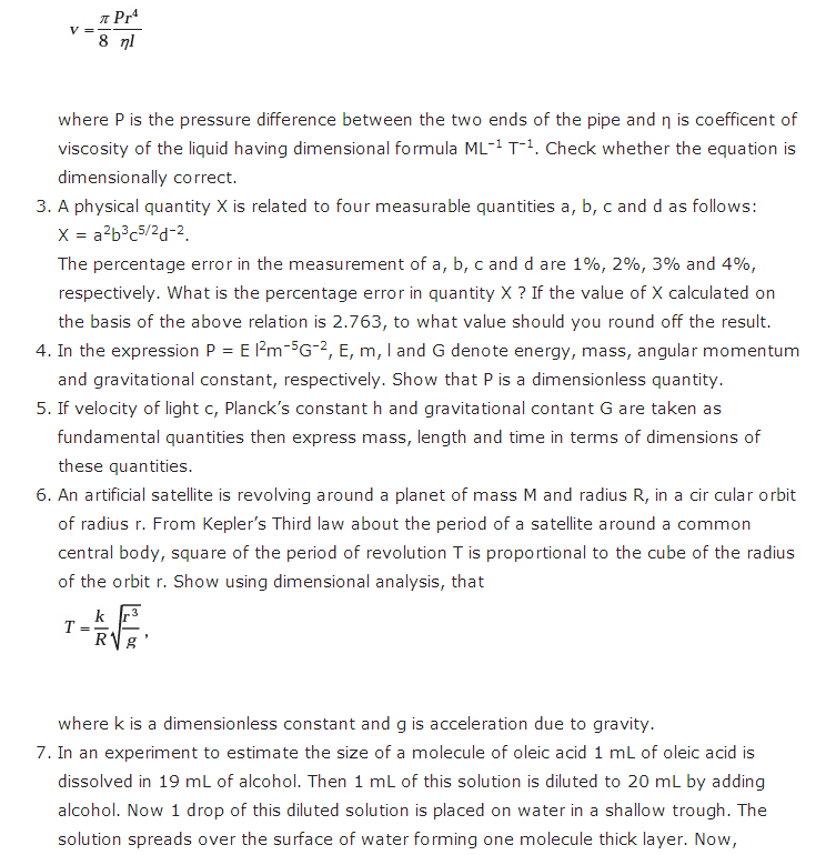 important questions class 11 physics chapter 1 units measurements 3