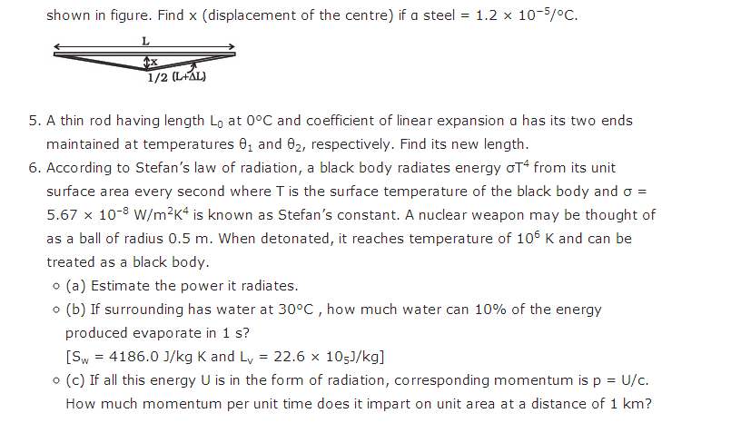 important questions class 11 physics chapter 10 thermal properties matter 3