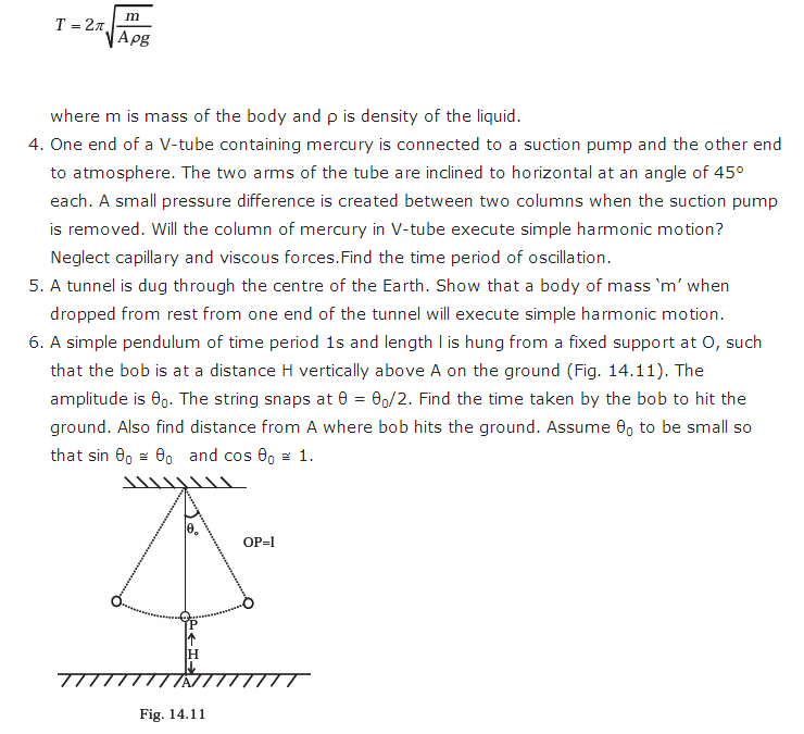 important questions class 11 physics chapter 13 oscillations 4
