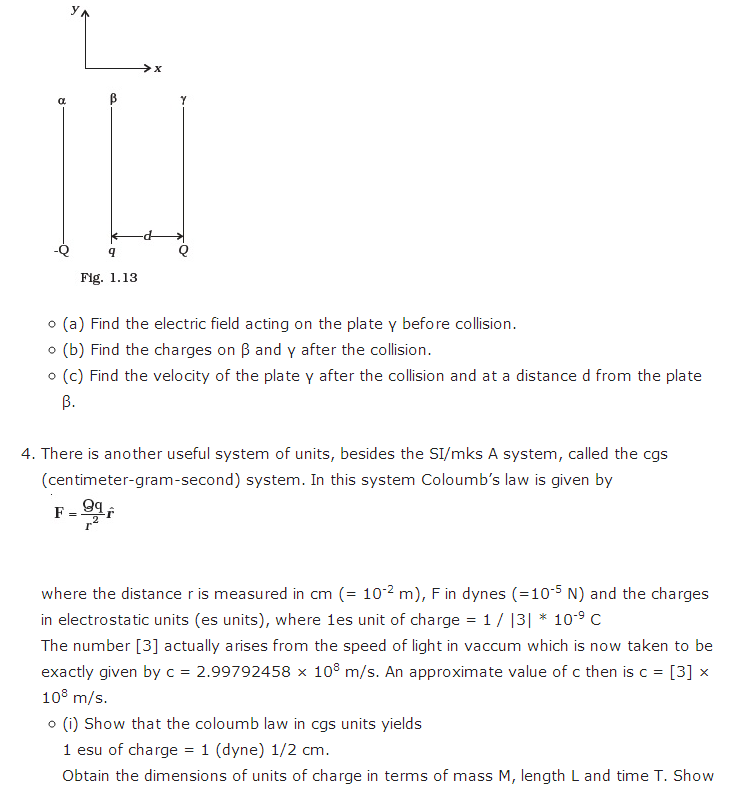 important questions class 12 physics chapter 1 electric charges fields 4