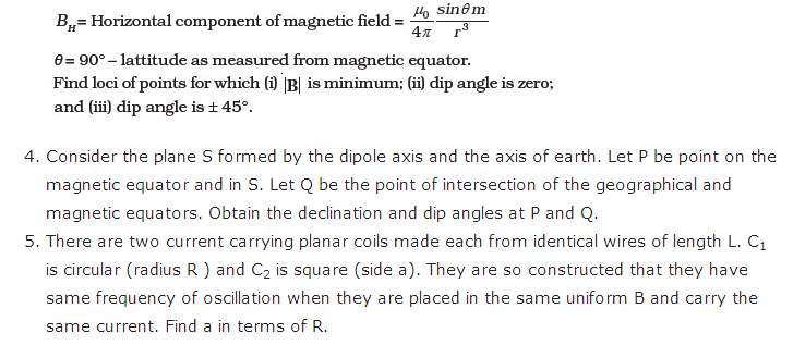 important questions class 12 physics chapter 5 magnetism matter 3