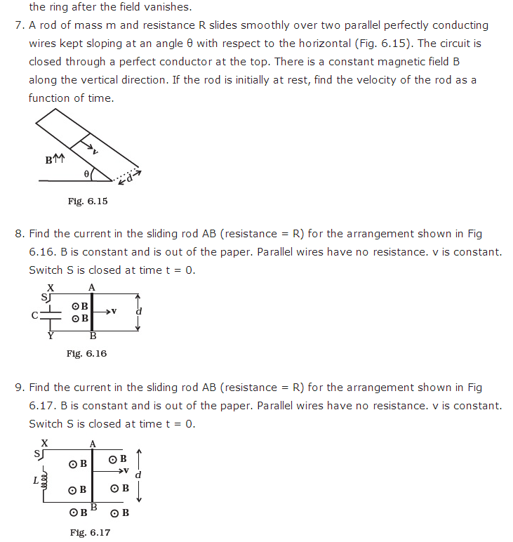 important questions class 12 physics chapter 6 electromagnetic induction 6