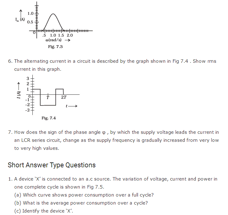 important questions class 12 physics chapter 7 alternating current 2