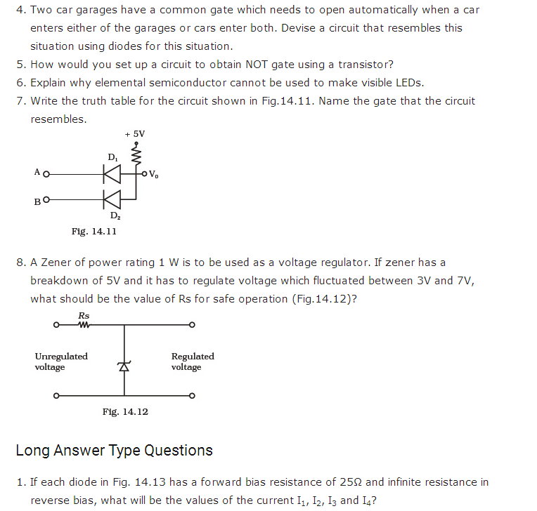 important questions class 12 physics chapter 14 semiconductor electronics materials 3