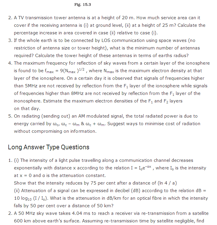 important questions class 12 physics chapter 15 communication systems 2