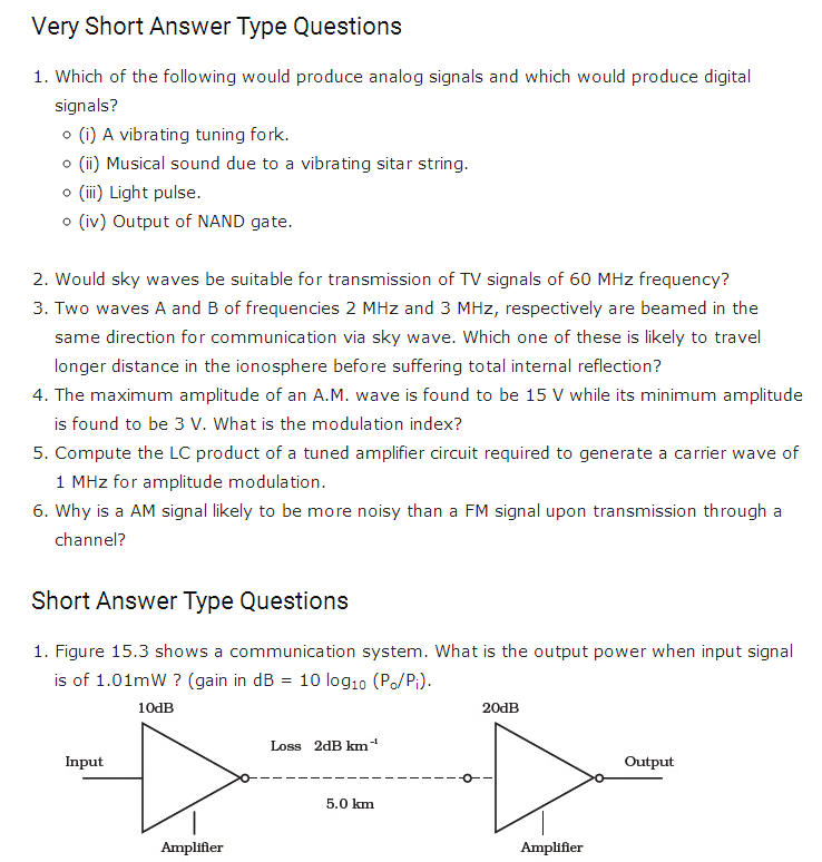 important questions class 12 physics chapter 15 communication systems 1