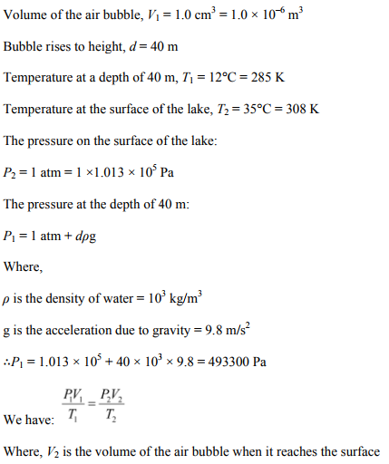 Physics Numericals Class 11 Chapter 13 14