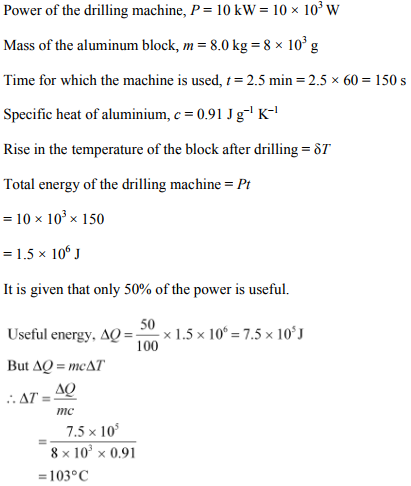 Physics Numericals Class 11 Chapter 11 37