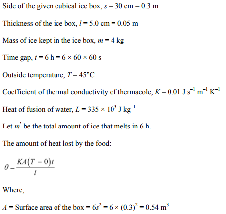 Physics Numericals Class 11 Chapter 11 61