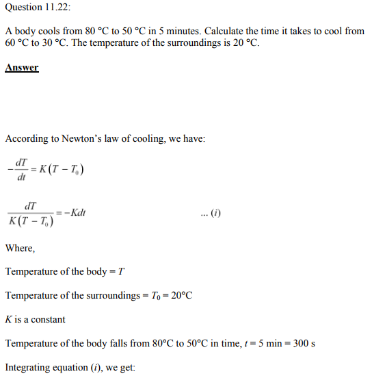 Physics Numericals Class 11 Chapter 11 70