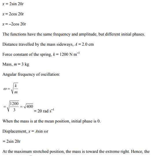 Physics Numericals Class 11 Chapter 14 33