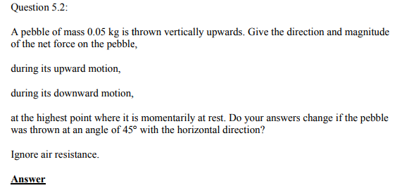 Physics Numericals Class 11 Chapter 5 3