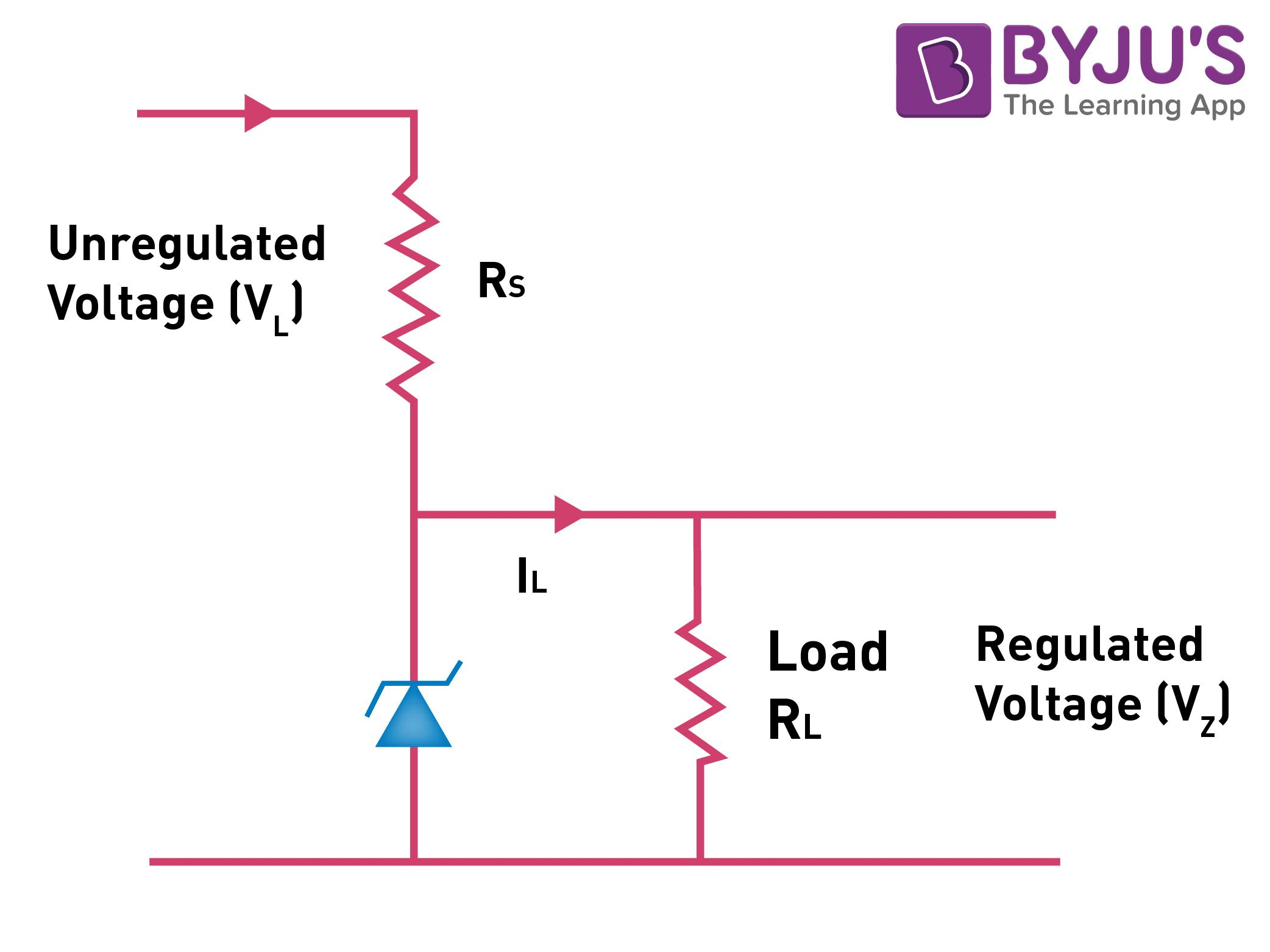 Zener Diode As A Voltage Regulator Working Principles Applications Circuit Diagram Stabilizer