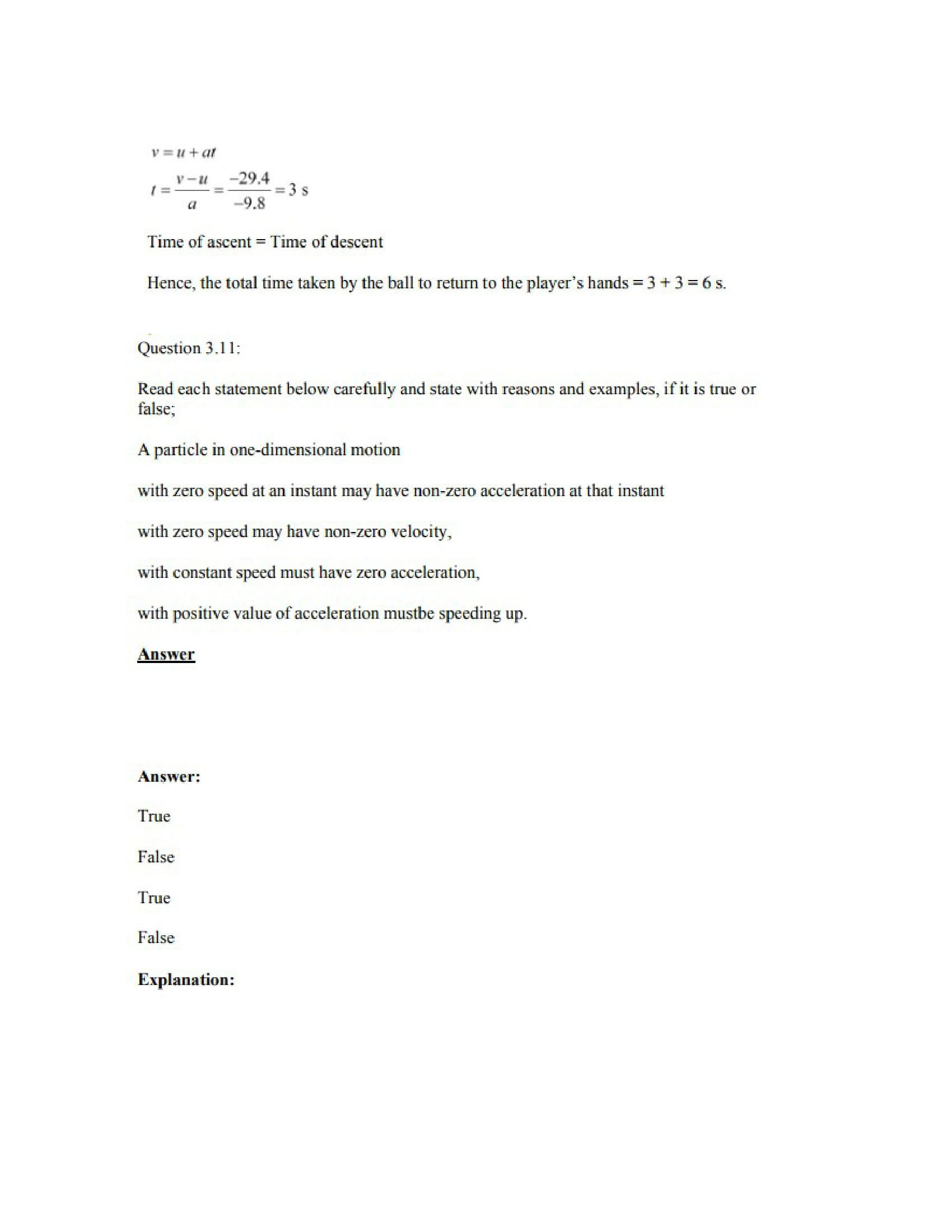 Physics Numericals Class 11 Chapter 3 13