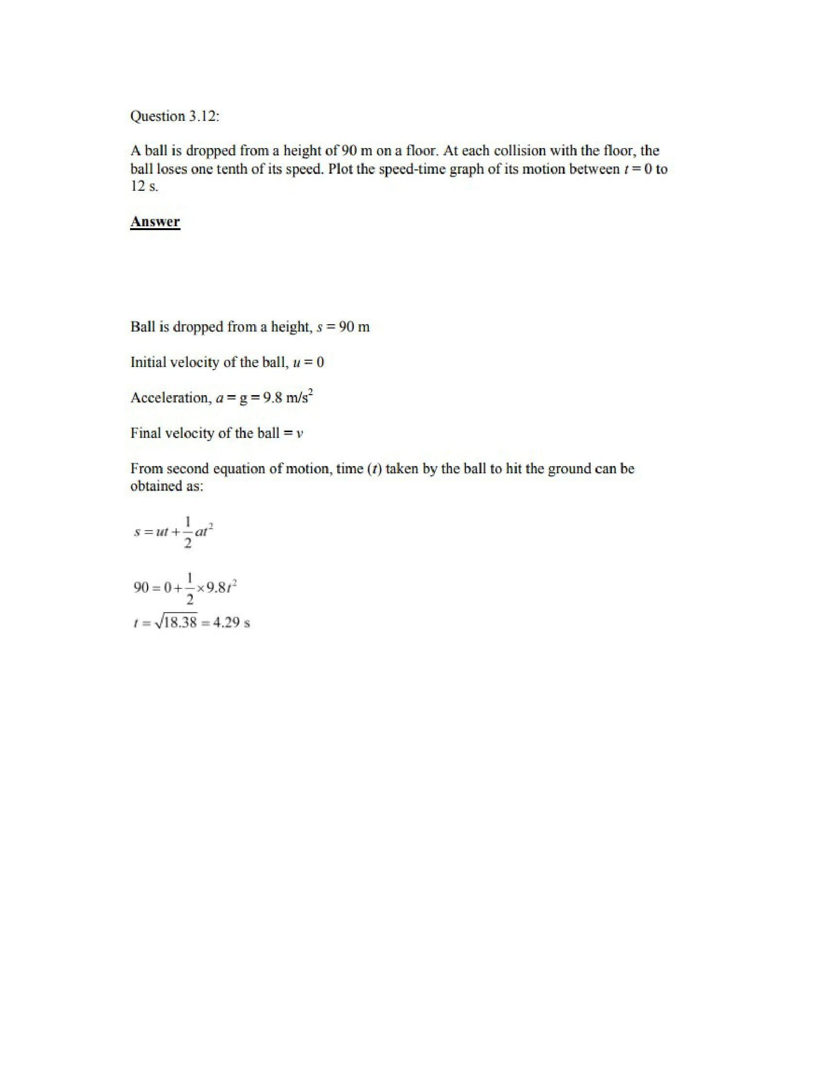 Physics Numericals Class 11 Chapter 3 15