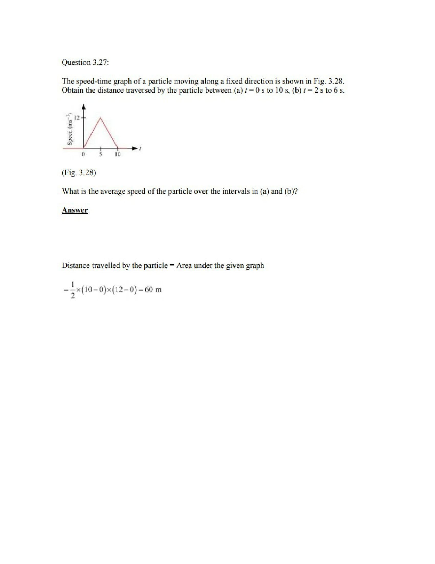 Physics Numericals Class 11 Chapter 3 39