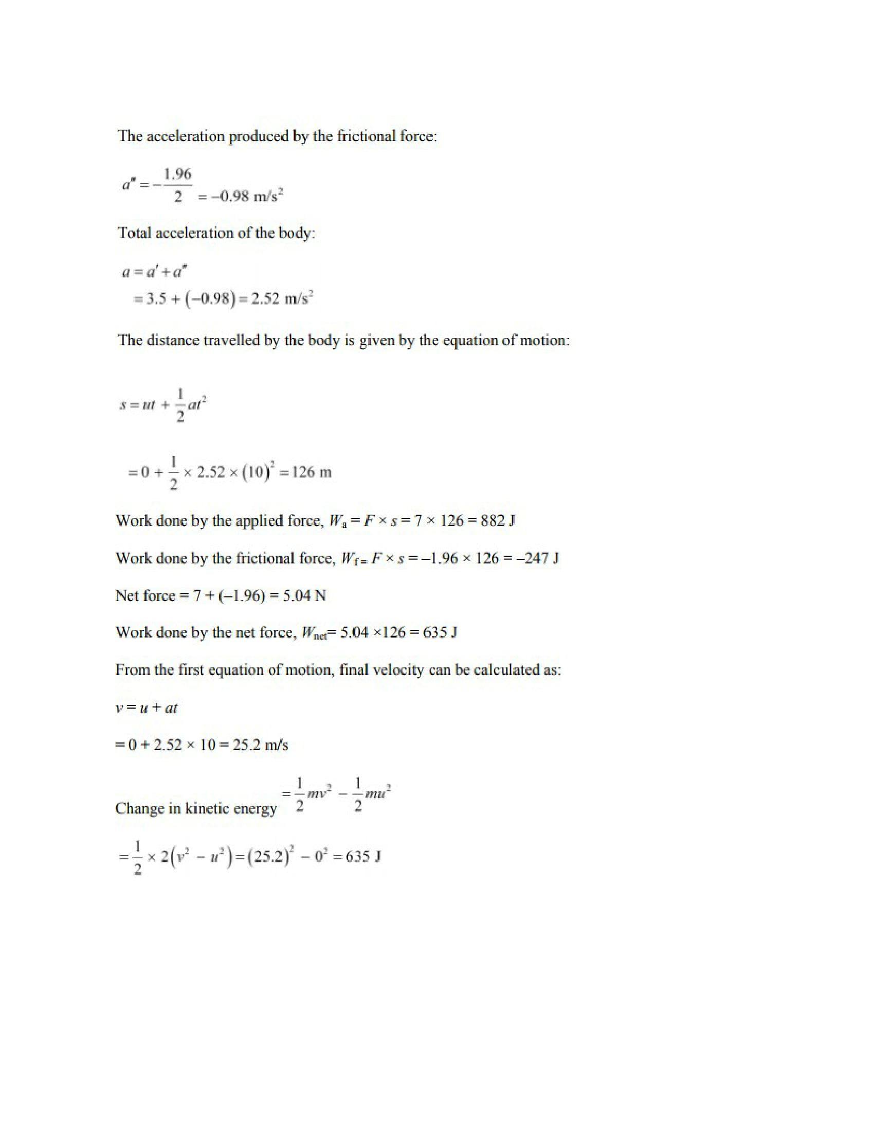 Physics Numericals Class 11 Chapter 6 3