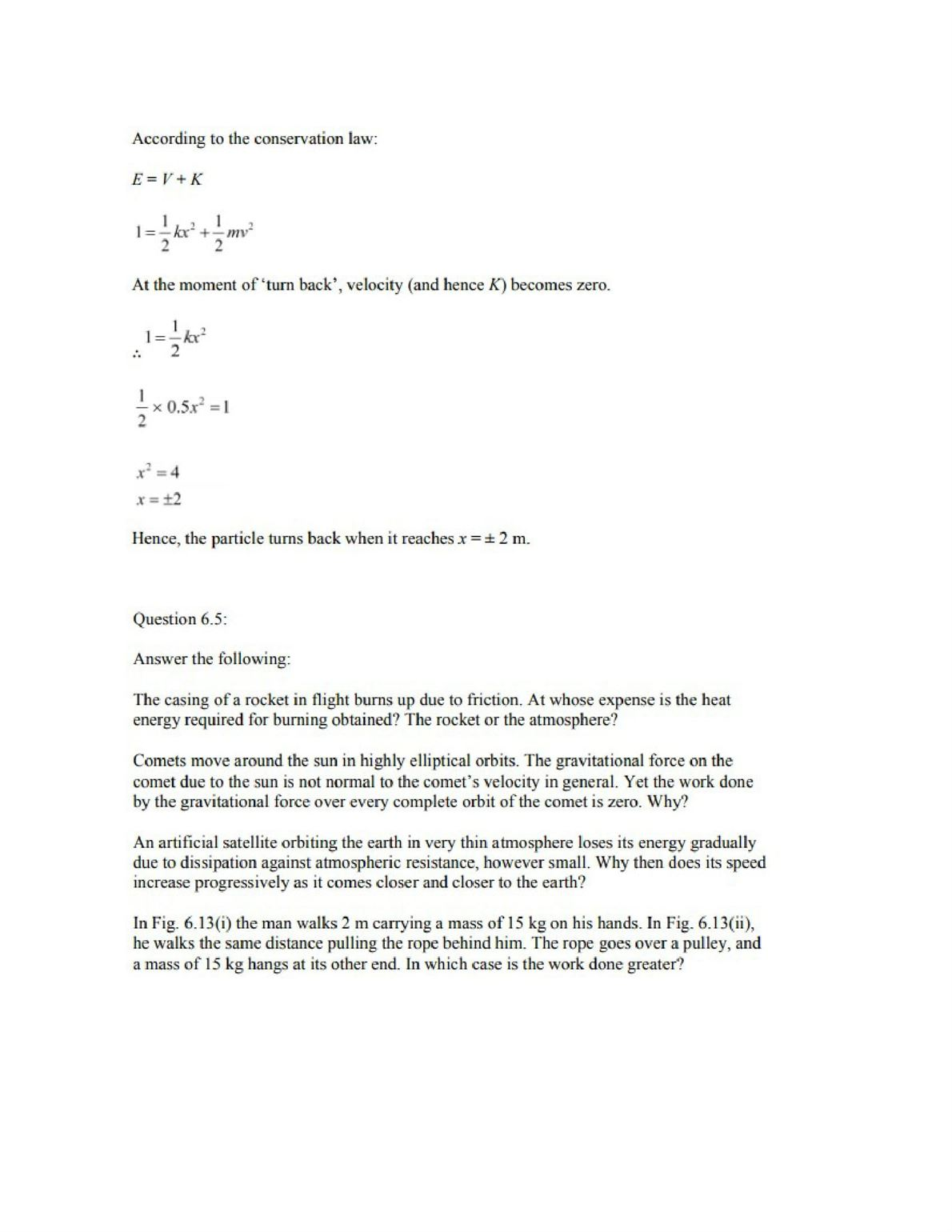 Physics Numericals Class 11 Chapter 6 7