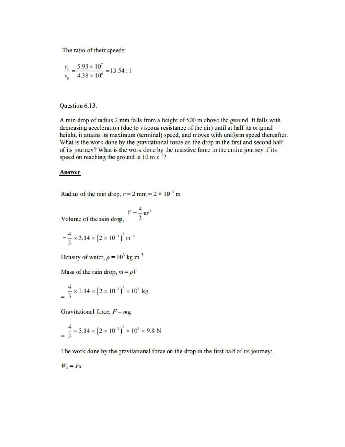 Physics Numericals Class 11 Chapter 6 17