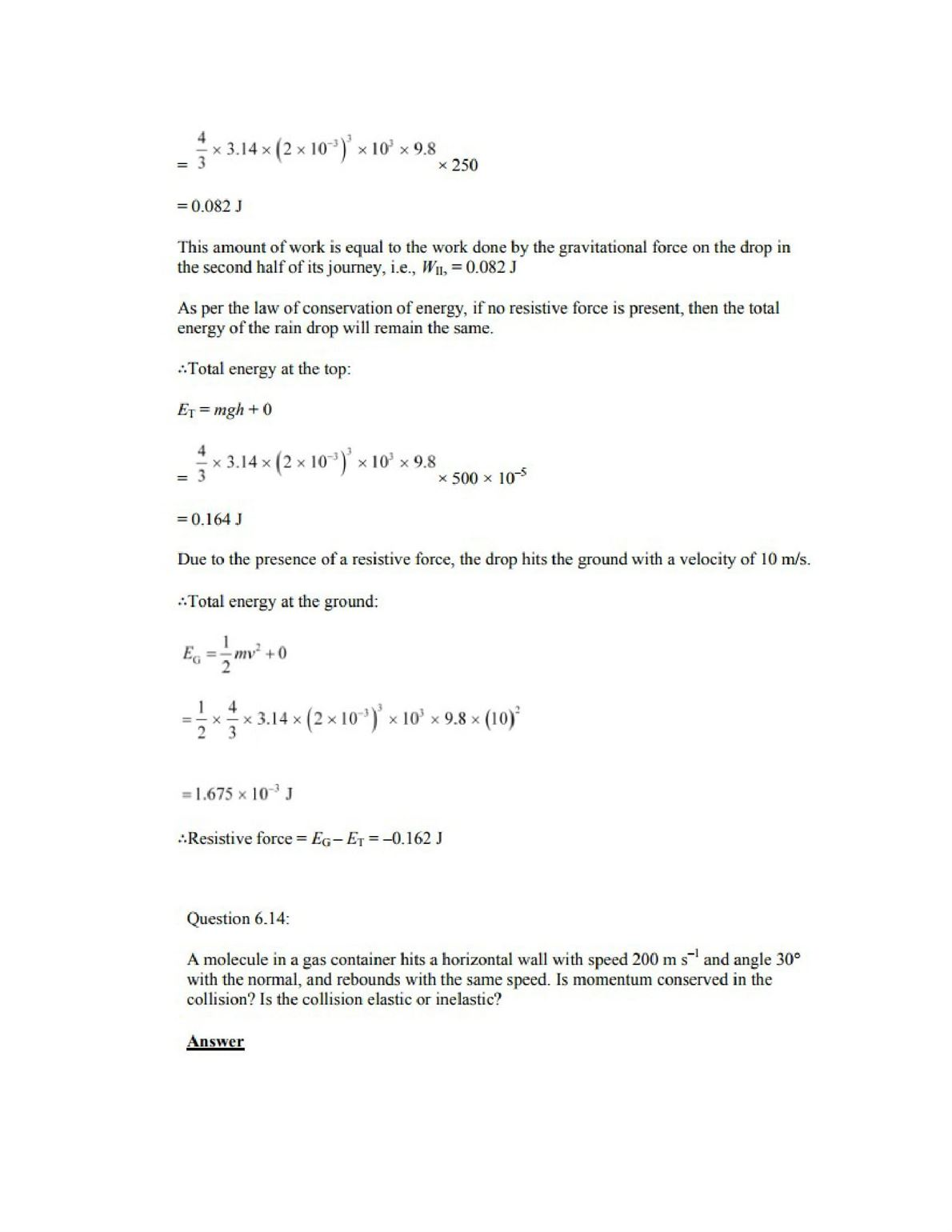 Physics Numericals Class 11 Chapter 6 18