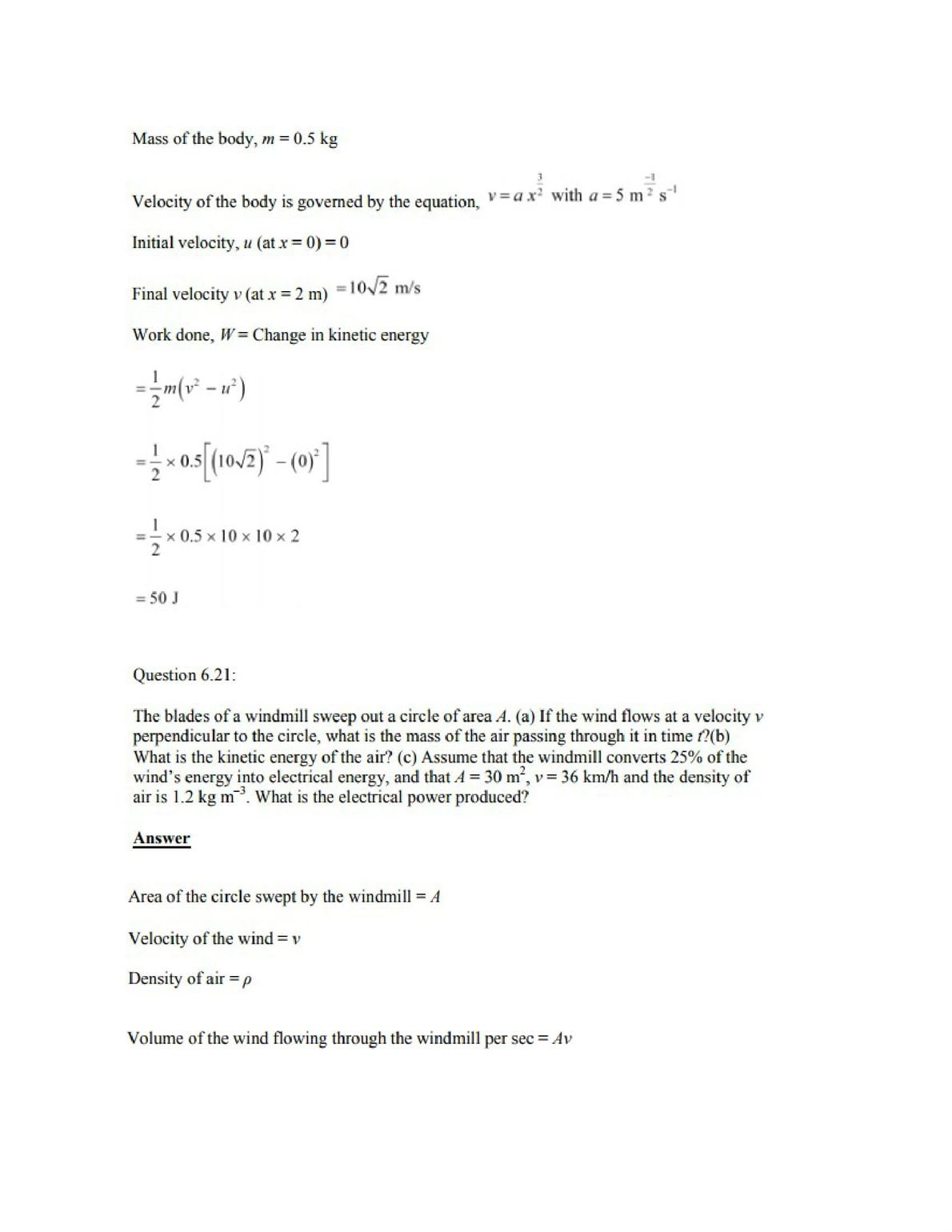 Physics Numericals Class 11 Chapter 6 26