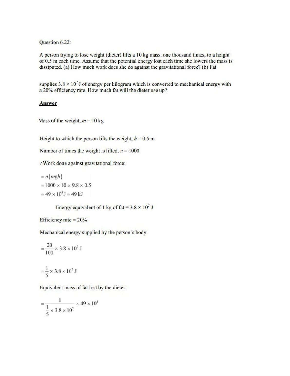Physics Numericals Class 11 Chapter 6 28