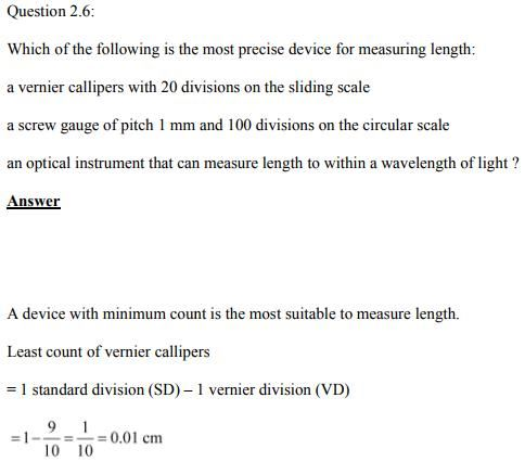Physics Numericals Class 11  Chapter 2 14