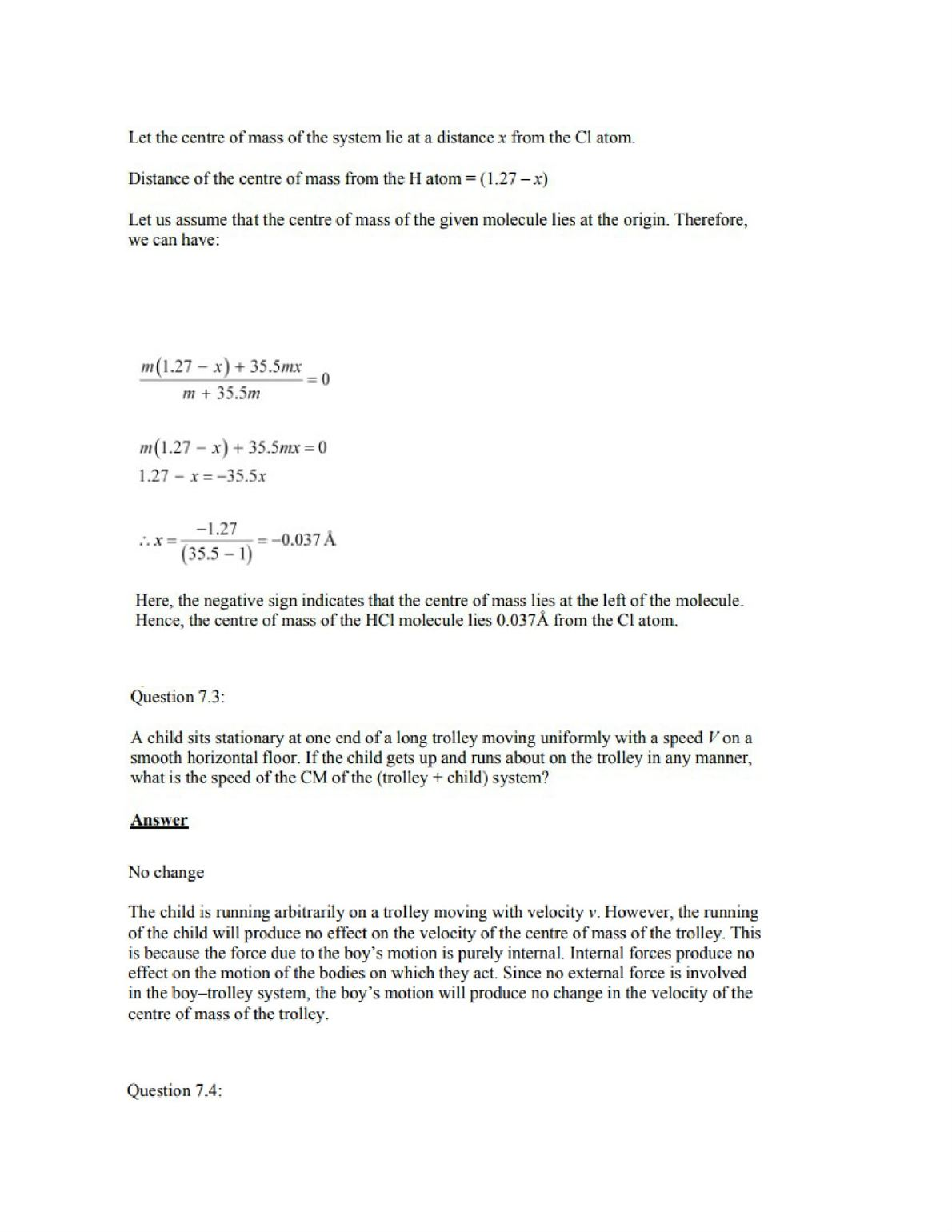 Physics Numericals Class 11 Chapter 7 2