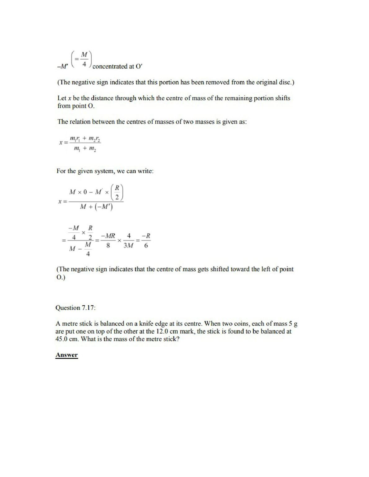 Physics Numericals Class 11 Chapter 7 20