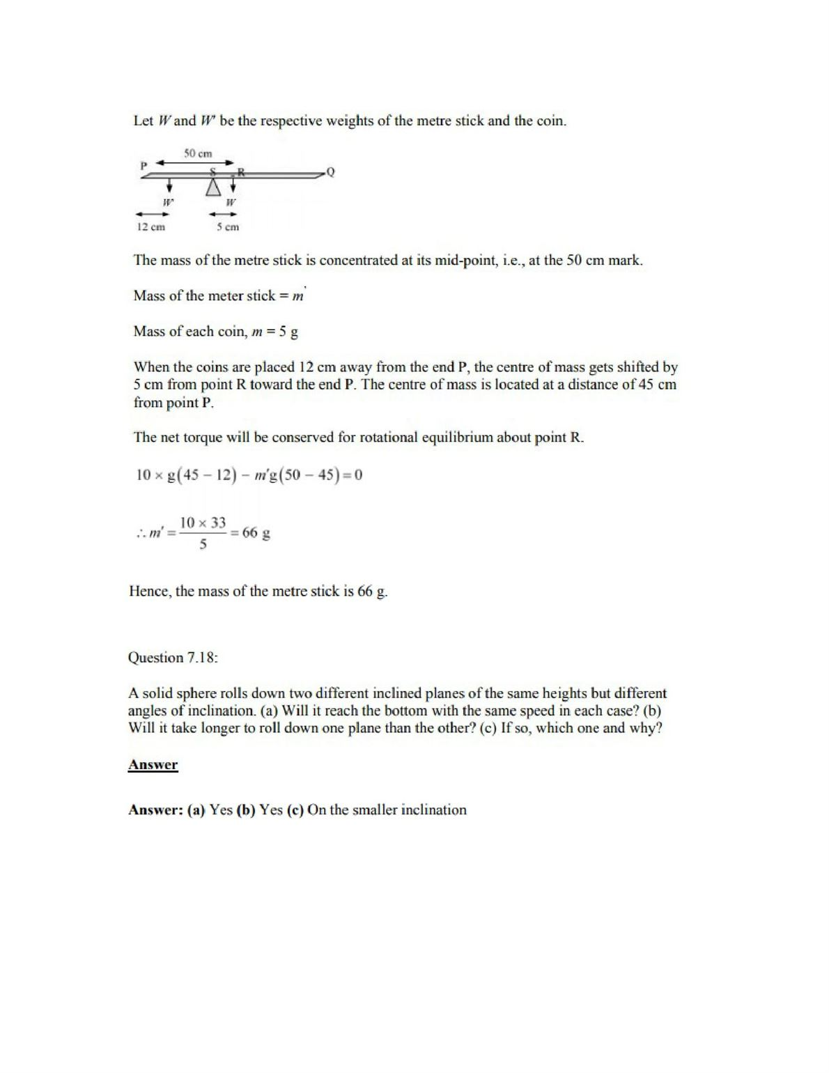 Physics Numericals Class 11 Chapter 7 21