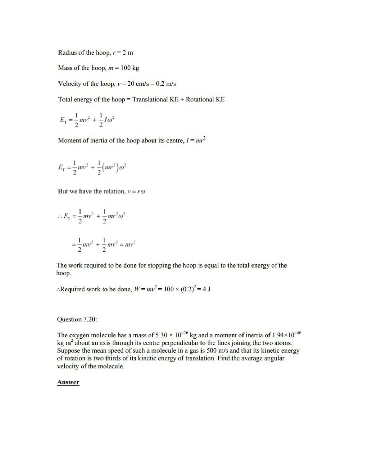 Physics Numericals Class 11 Chapter 7 25