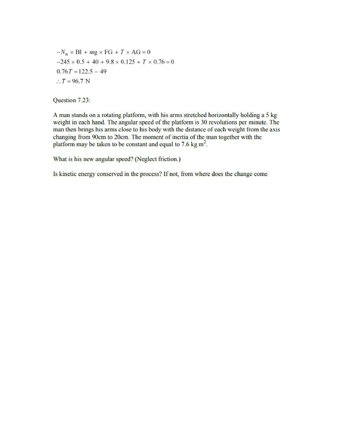 Physics Numericals Class 11 Chapter 7 34