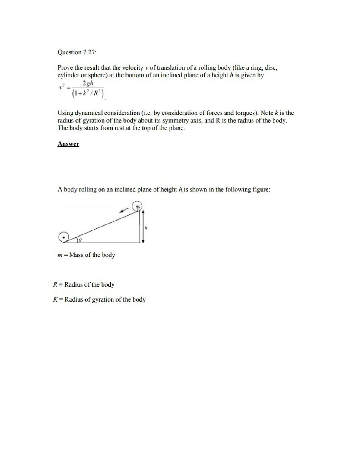 Physics Numericals Class 11 Chapter 7 44