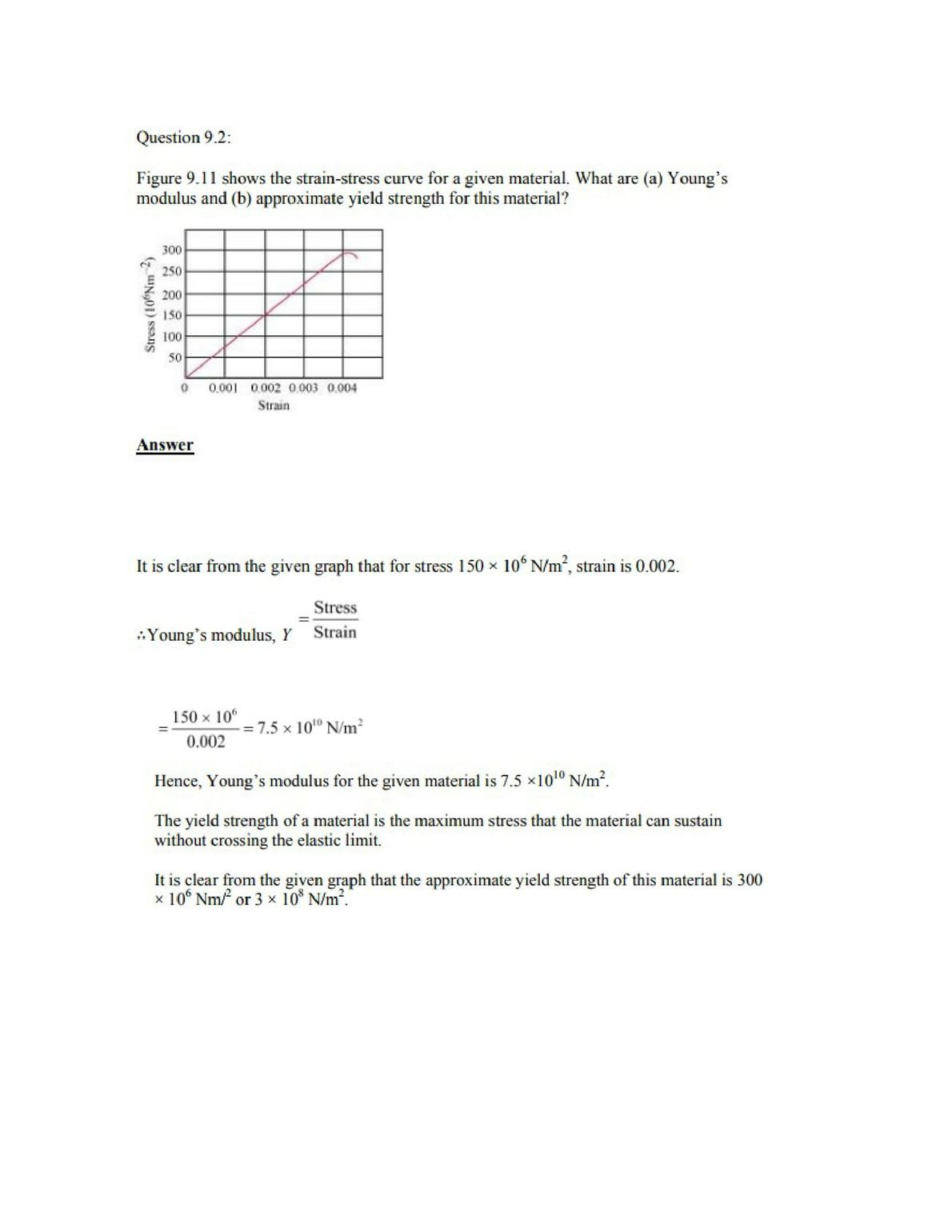 Physics Numericals Class 11 Chapter 9 3width=