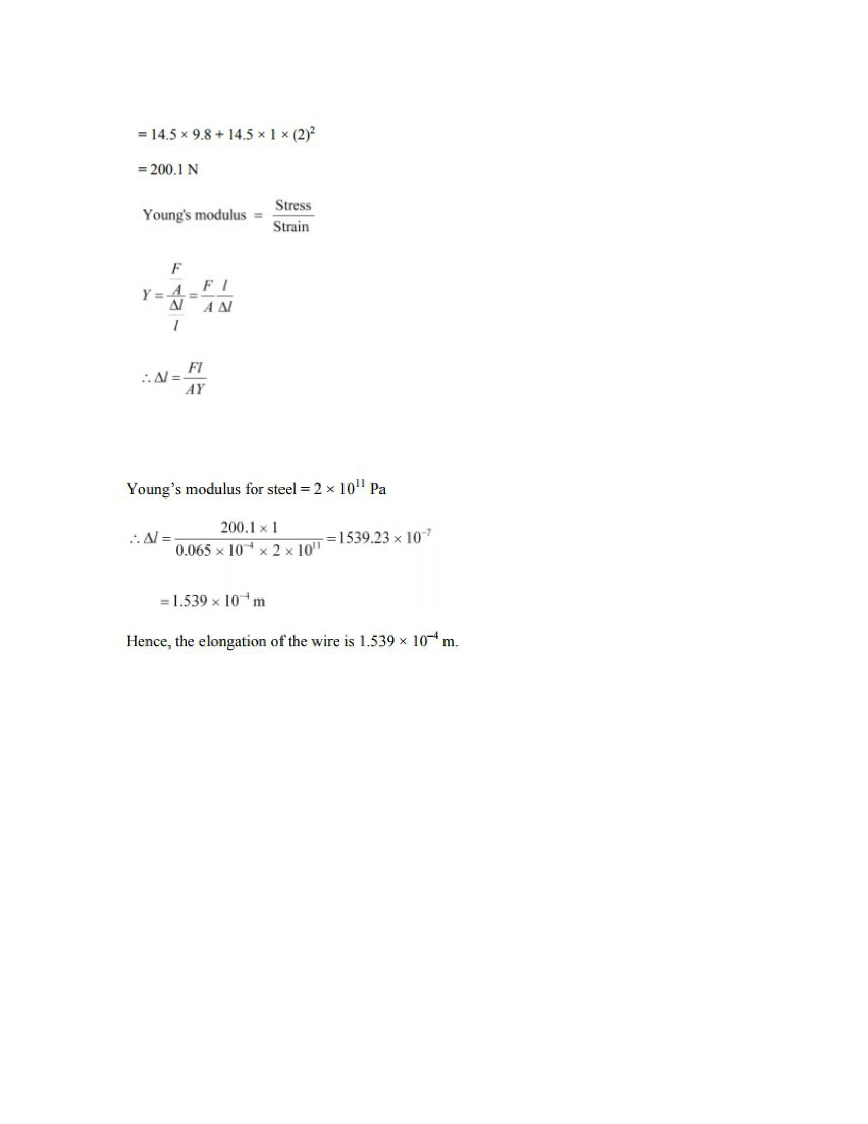 Physics Numericals Class 11 Chapter 9 14width=