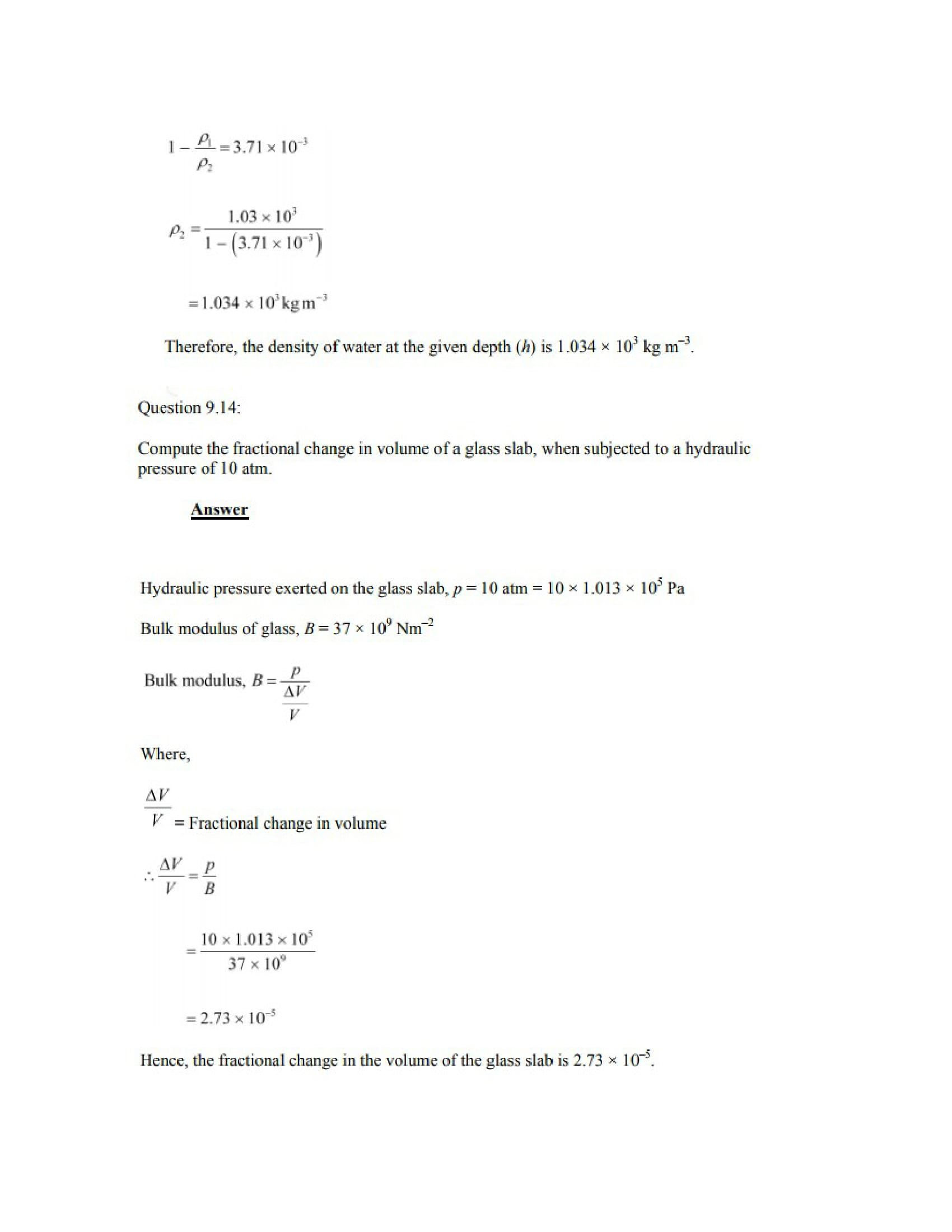 Physics Numericals Class 11 Chapter 9 18width=