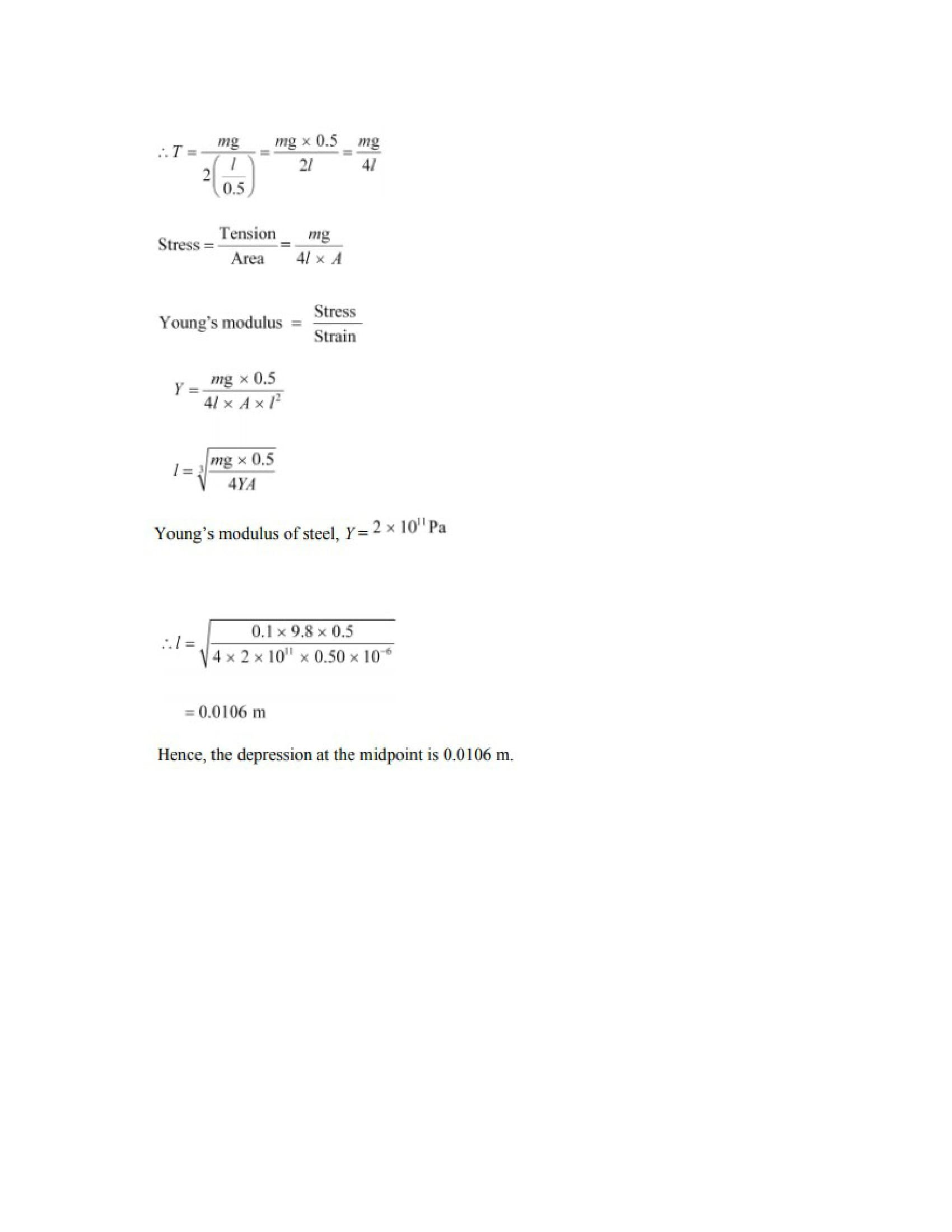 Physics Numericals Class 11 Chapter 9 30width=