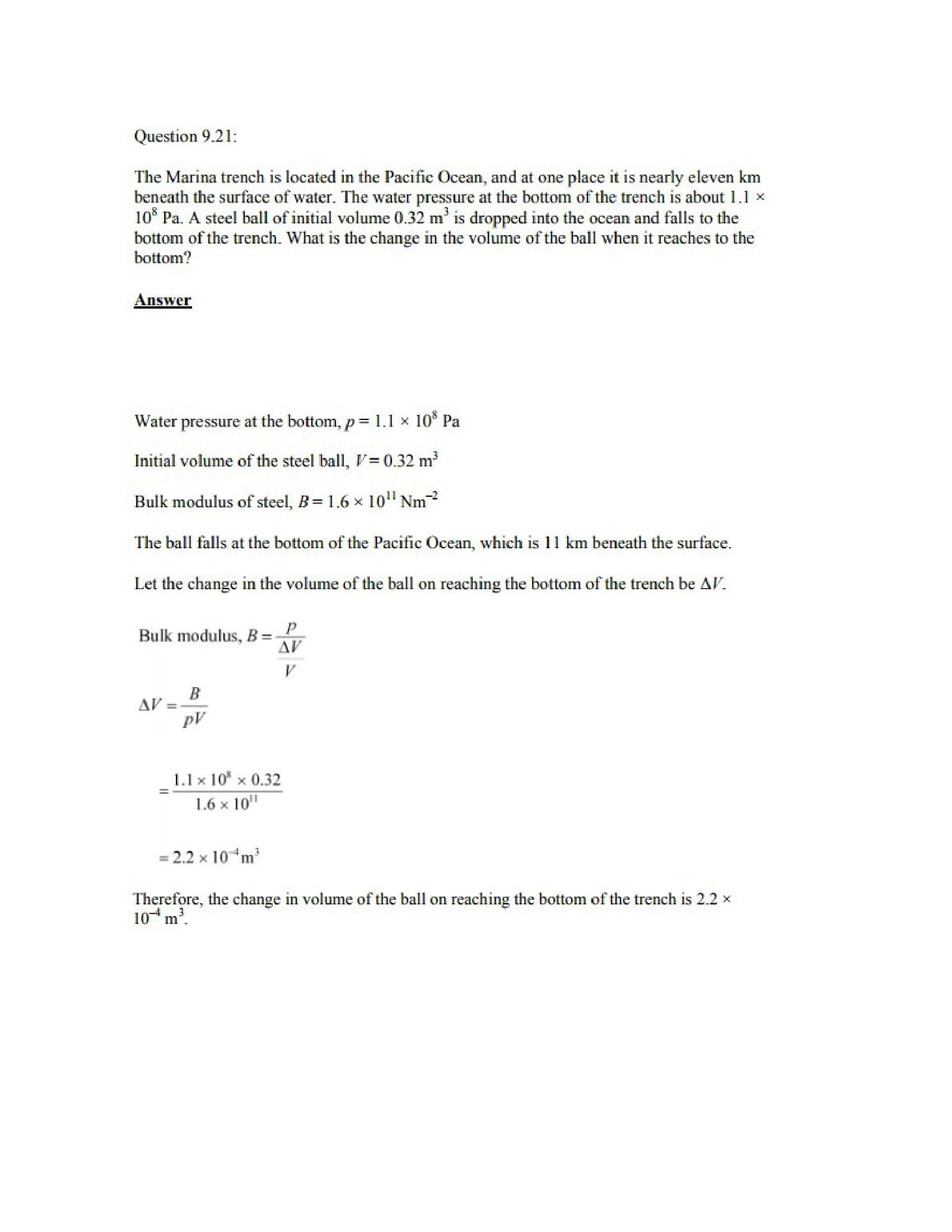 Physics Numericals Class 11 Chapter 9 32width=