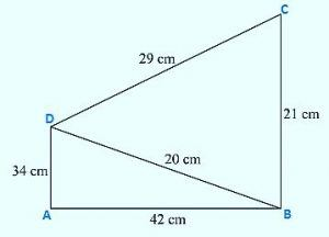 Find the area of quadrilateral ABCD in which
